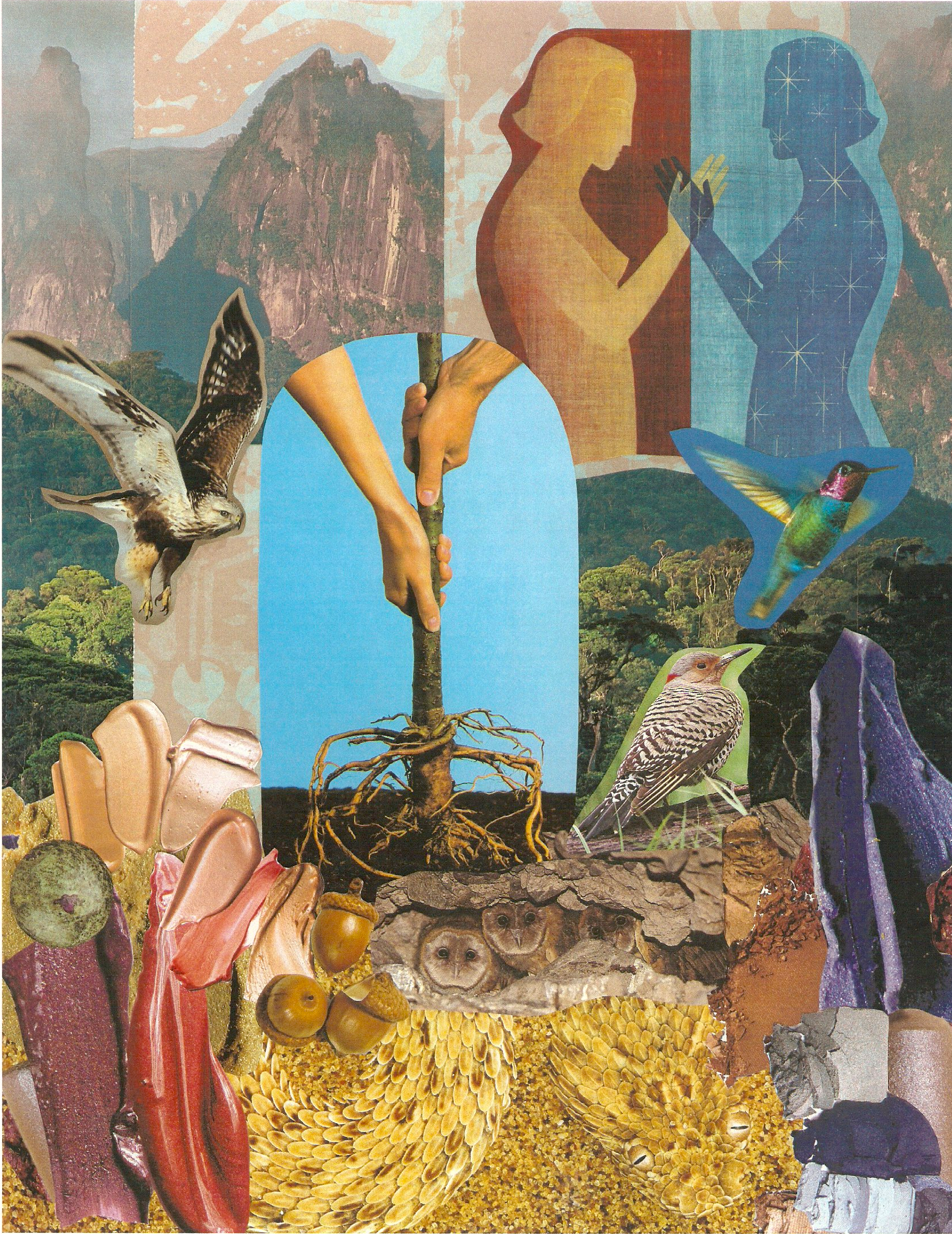 Sacred Space Collage Card