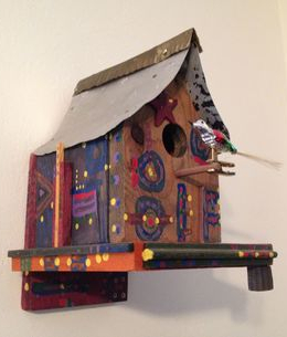 colourful birdhouse